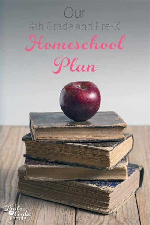 Great ideas and plans for 4th grade homeschool curriculum as well as Pre-K Homeschool curriculum.