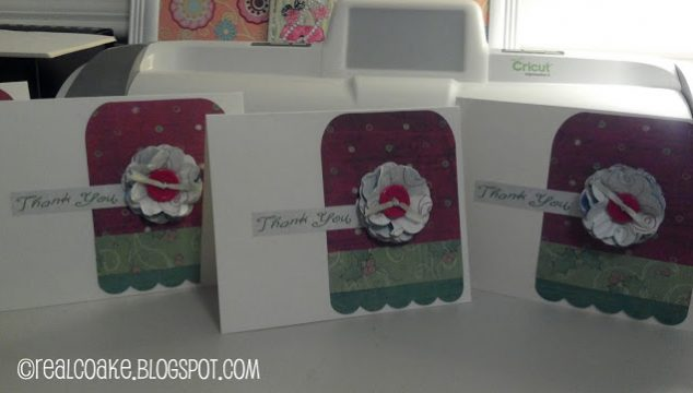 Cricut Christmas Thank You Card