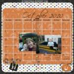 Digital Delights: October Calendar Page