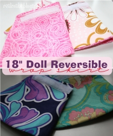 Free doll clothes pattern to sew a reversible skirt for your American Girl doll from #Realcoake