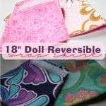 Sewing American Girl Reversible Wrap Skirts