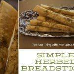 Simple Herbed Breadsticks