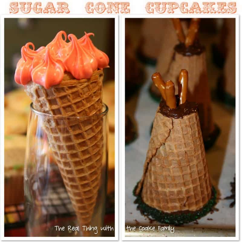 How to bake cupcakes in an ice cream cone...the easy way! #Recipe #KitchenTips #Cupcakes #RealCoake