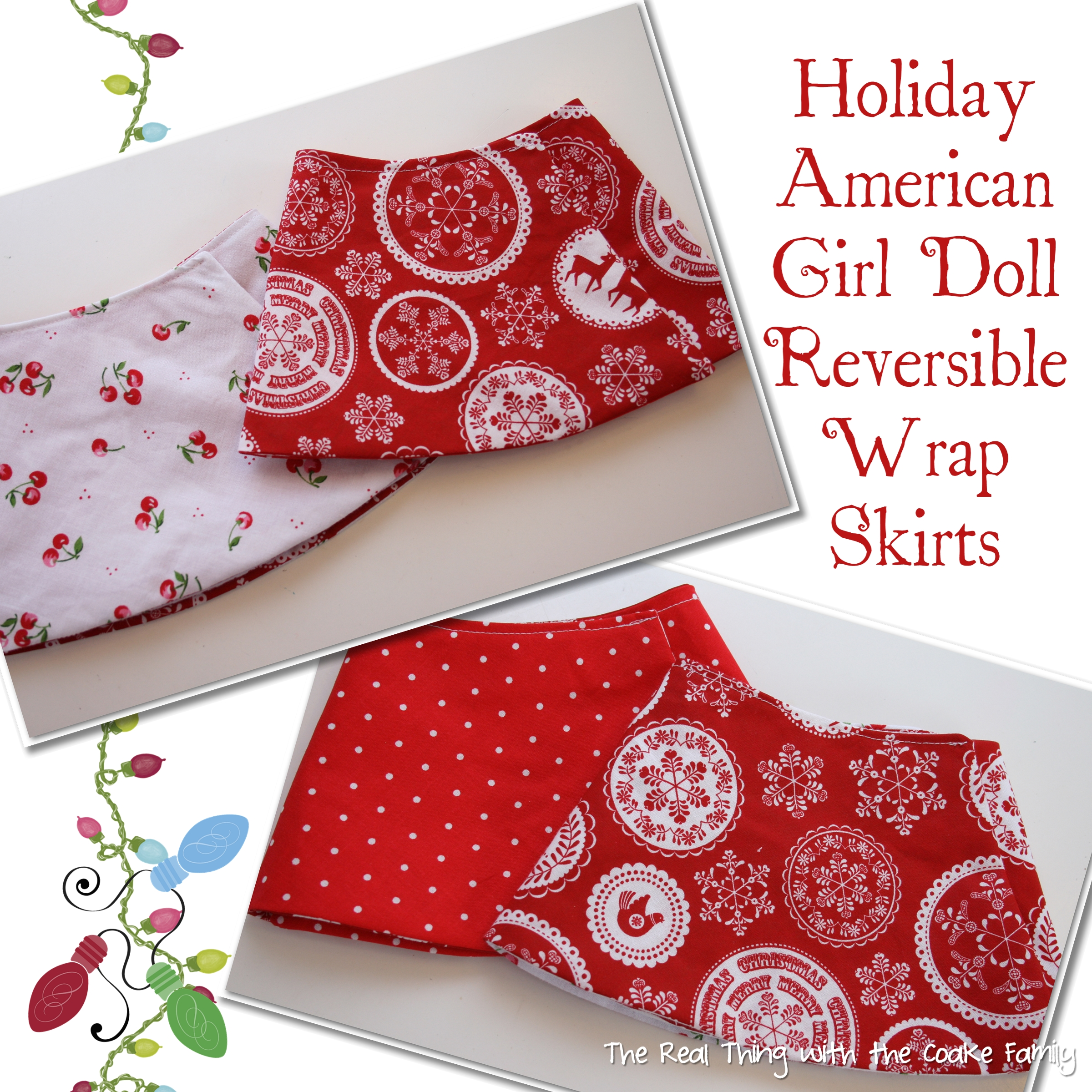 Free Doll Clothes Pattern: Holiday Reversible Wrap Skirt » The Real ...