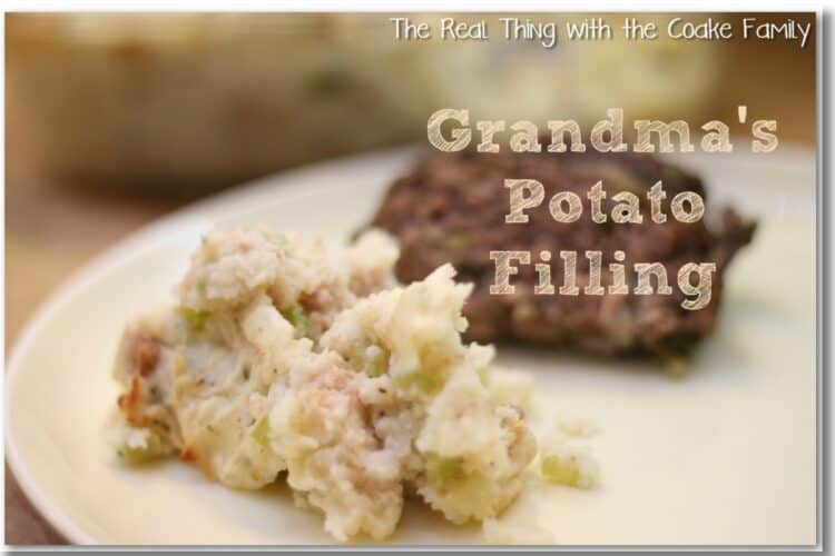 potato filling on plate