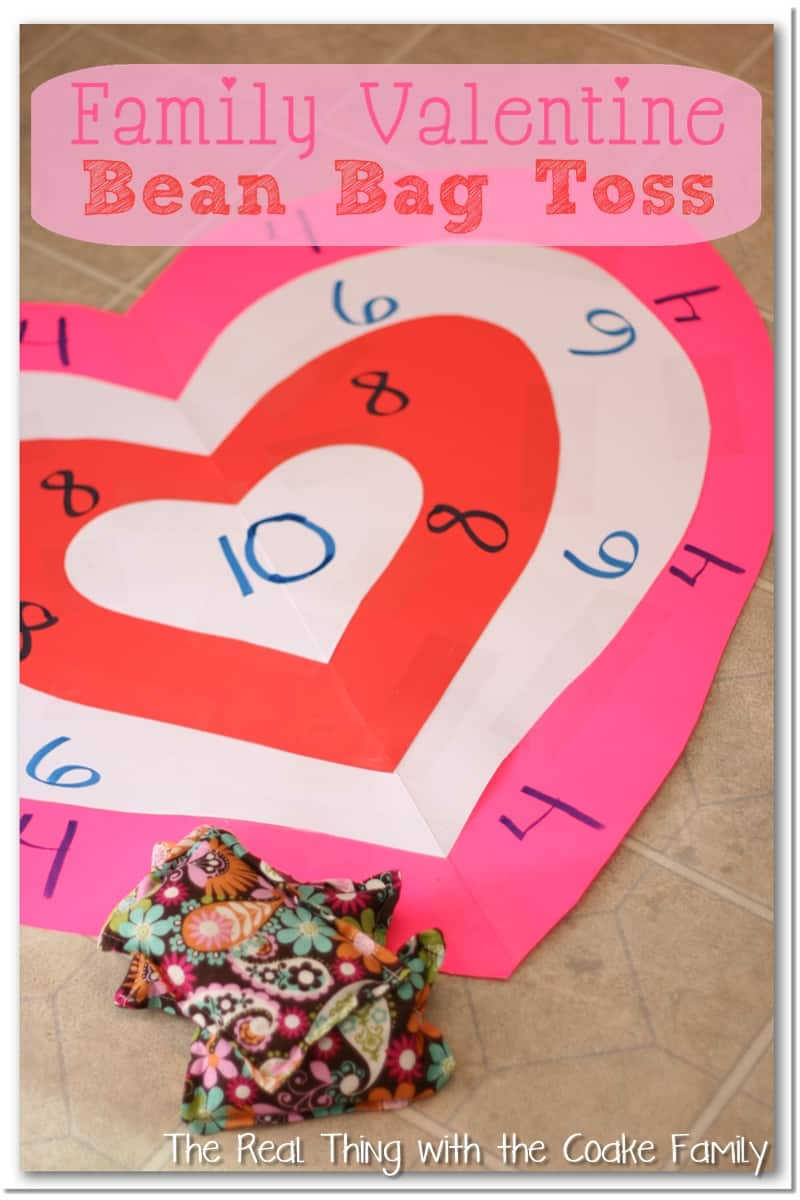 Activities for the family valentine 39 s bean bag toss for Valentine party crafts for school
