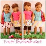 Free Doll Clothes Pattern ~ Easter Reversible Skirt