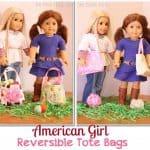 Free Doll Patterns ~ Reversible Tote Bag