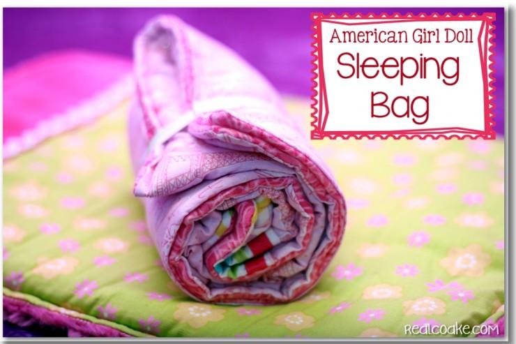 American Girl Doll patterns ~ Sleeping bag pattern for an American Girl Doll. Easy to make! #AmericanGirlDoll #Sewing #Pattern