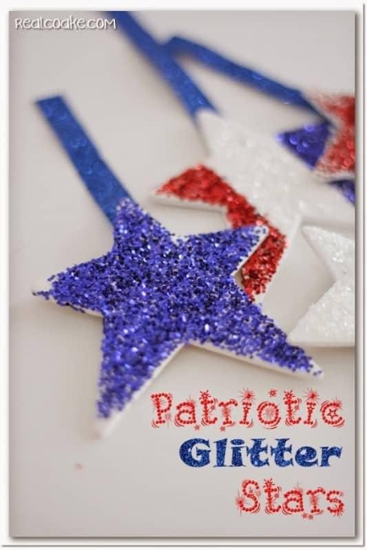4th of july crafts make patriotic glitter stars. Black Bedroom Furniture Sets. Home Design Ideas