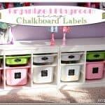Chalkboard Labels for Organized Toy Storage