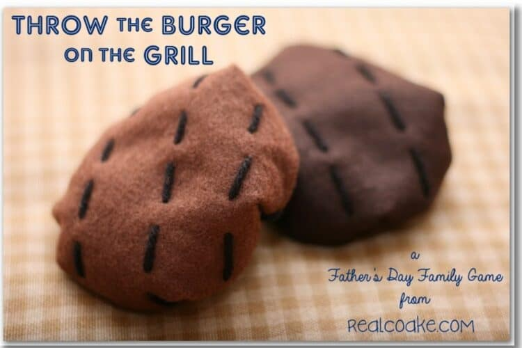 felt burgers for activities for the family