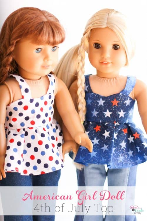 Adorable free doll clothes pattern for sewing an American Girl Top along with tips for completing the pattern.