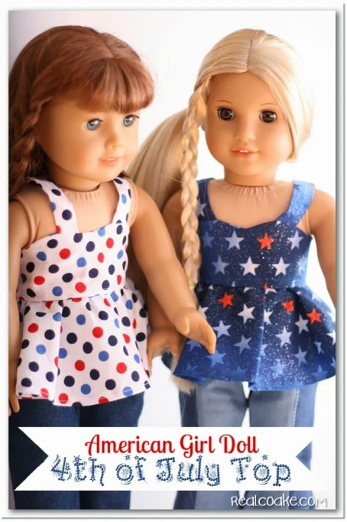 Adorable free doll clothes pattern for an American Girl Top along with tips for completing the pattern. #sewing #Pattern #AmericanGirlDoll