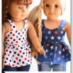 American Girl Doll 4th of July Top {Free Doll Clothes Pattern}