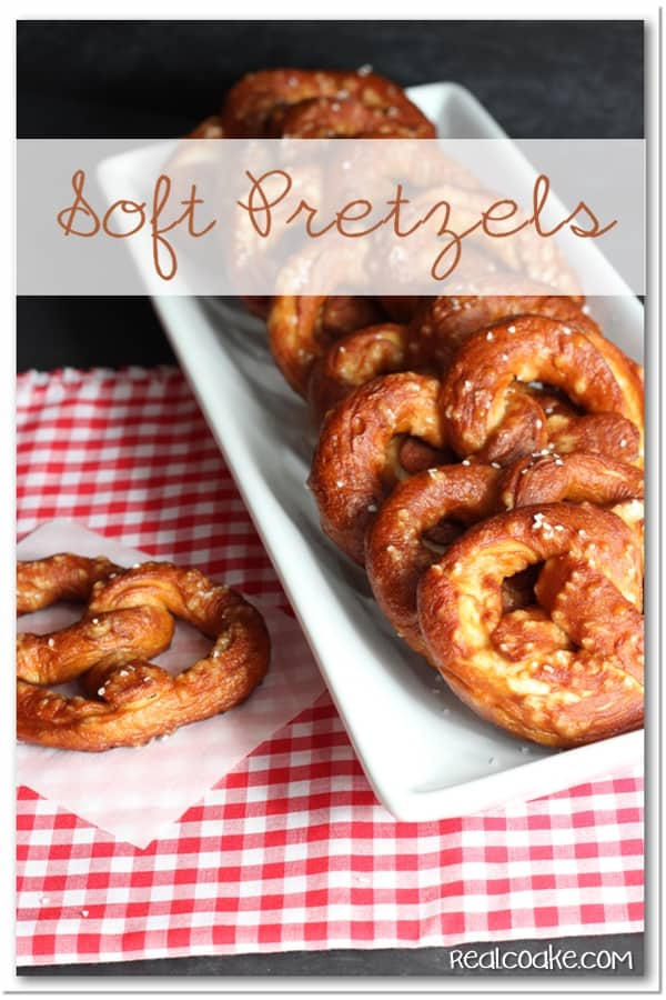 Yummy Soft Pretzel Recipe! Delicious and easy to make snack or treat. #Recipe #Pretzels #Snack #RealCoake