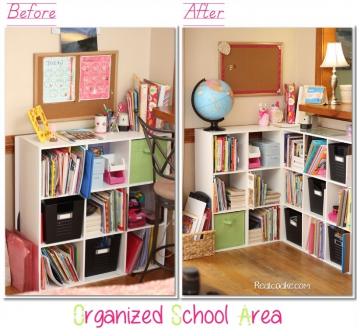 Our Newly Organized School Area {Homeschool Organization