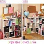 Our Newly Organized School Area {Homeschool Organization}