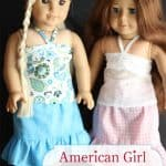 American Girl Bandeau Top {American Girl Doll Clothes Pattern}