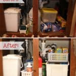 Under the Sink ~ From Messy to Organized {Organizing Tips}