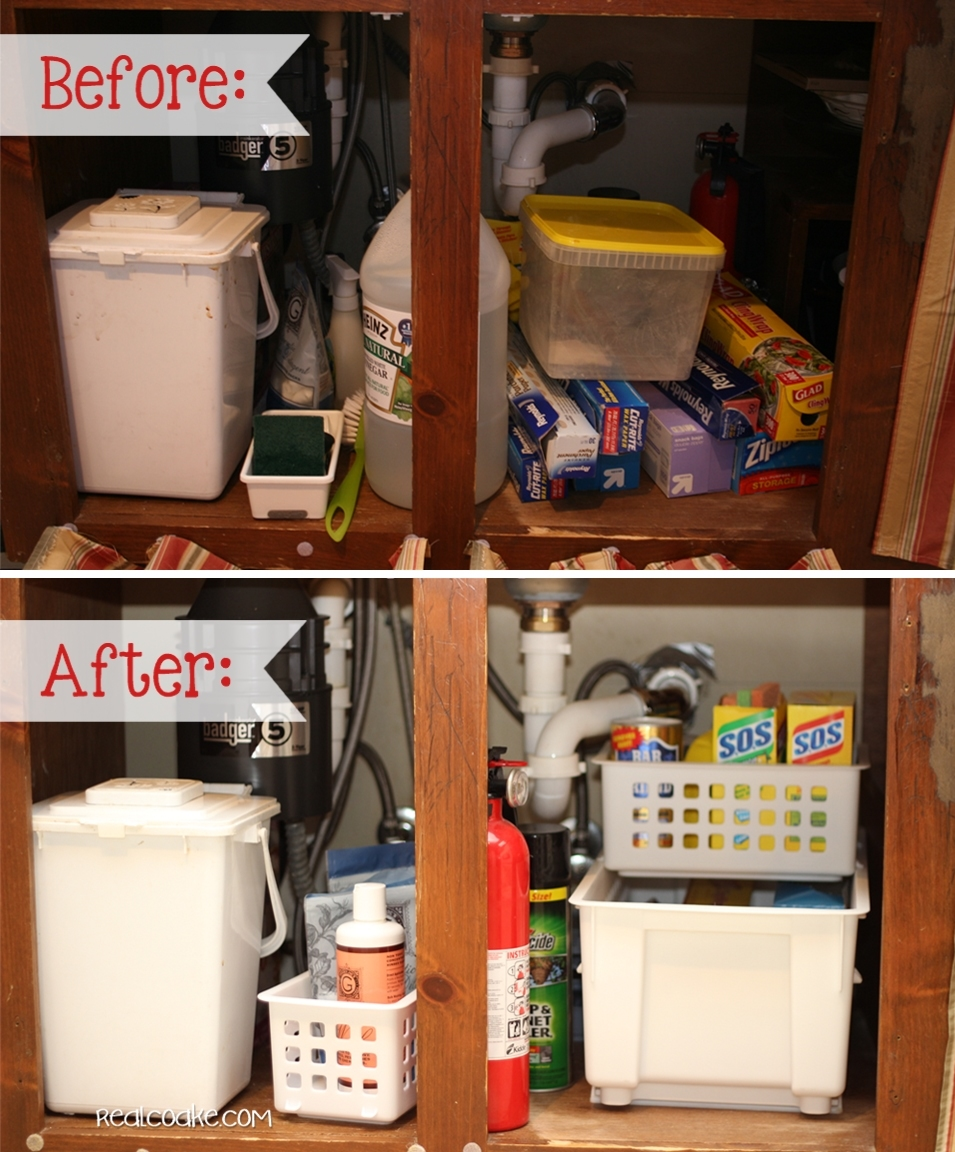 Messy Sink: From Messy To Organized {Organizing Tips