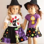 Halloween Doll Skirts – 2 ways {American Girl Doll Clothes Pattern}