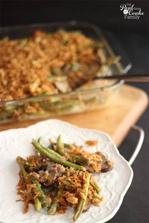 A delicious whole food recipe for Green Bean Casserole