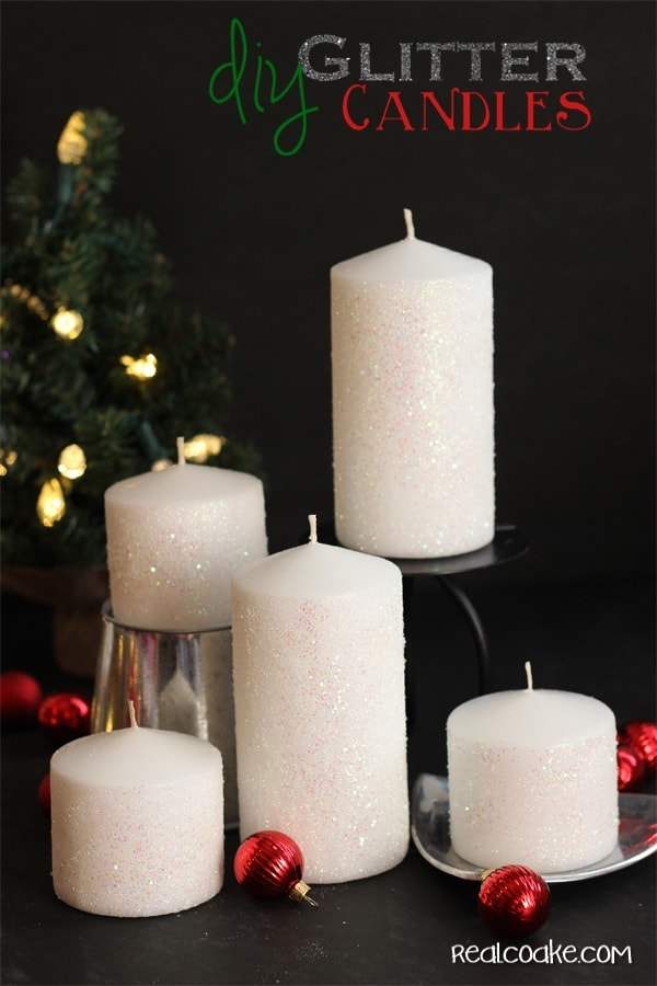 How to make a glitter candle diy home decor the real - Home decor ideas images ...