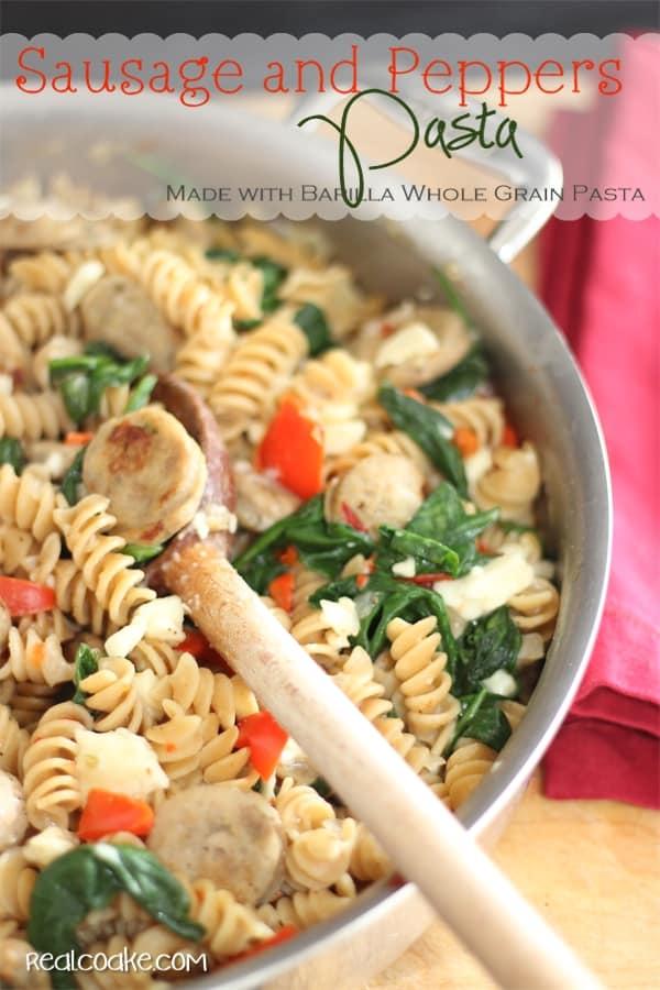 Delicious, quick, easy and #HealthyDinnerRecipes the whole family will enjoy. #PastaRecipes made with Barilla Whole Grain Pasta from #realcoake