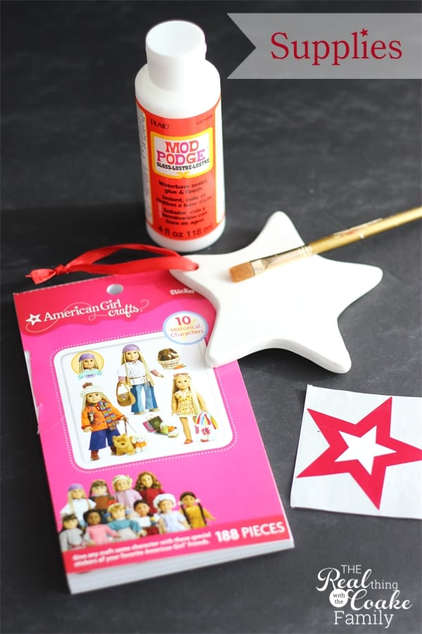 American girl crafts to make homemade christmas ornaments for Easy american girl doll crafts