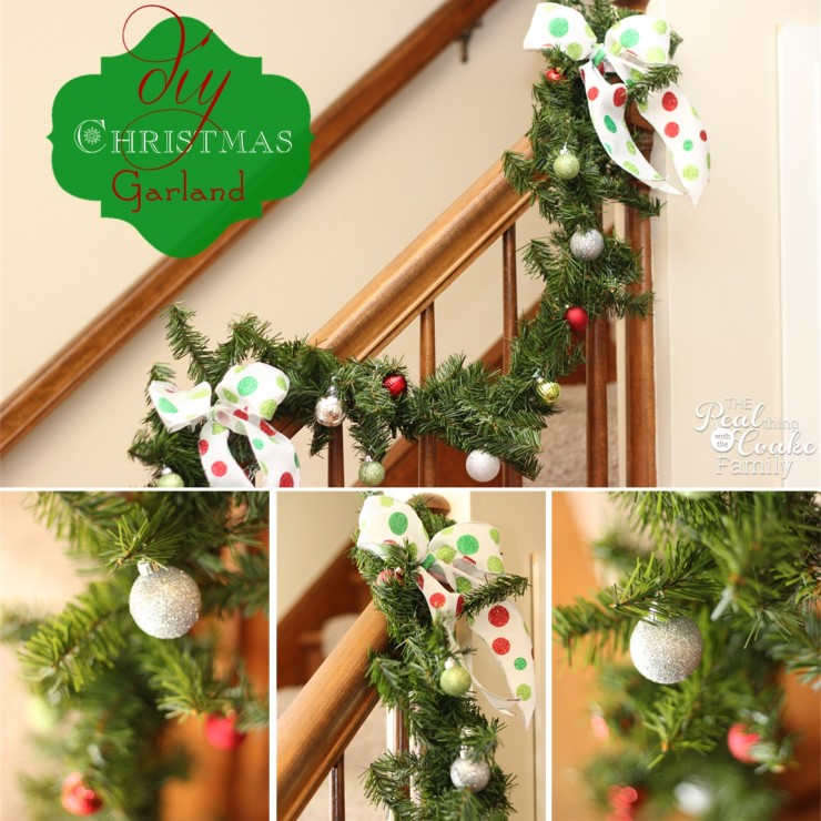 Christmas Decorating ideas to make a simple and inexpensive Christmas garland from #RealCoake #Garland #Christmas #Decorating
