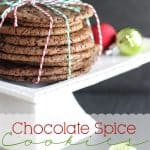 Cookie Recipes ~ Chocolate Spice Cookies