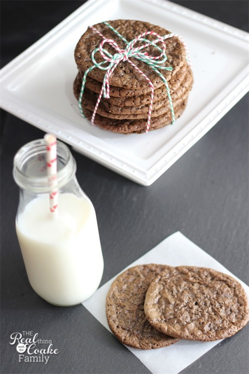 Cookie recipes - My Great Grandma's recipe for delicious Chocolate Spice Cookies from #RealCoake #Cookies #Chocolate #Recipe