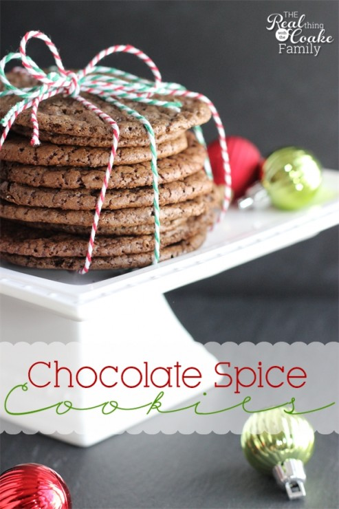 Chocolate Spice Cookies Recipe!