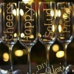 New Year's Champagne Glasses ~ Personalized Glass Etching