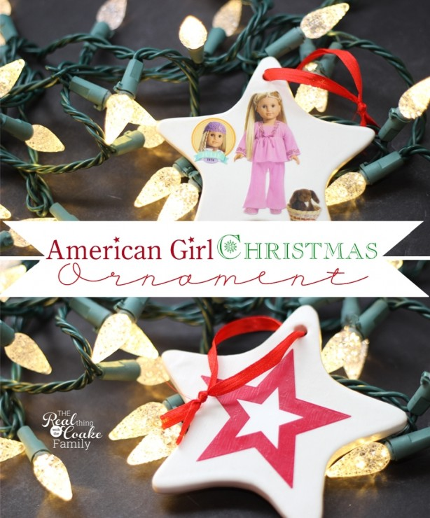 American Girl crafts to make Homemade Christmas Ornaments. Perfect easy and inexpensive craft to make with or for the American Girl Doll lover in your life. #Homemade #Christmas #Ornament #AmericanGirlDoll #Crafts