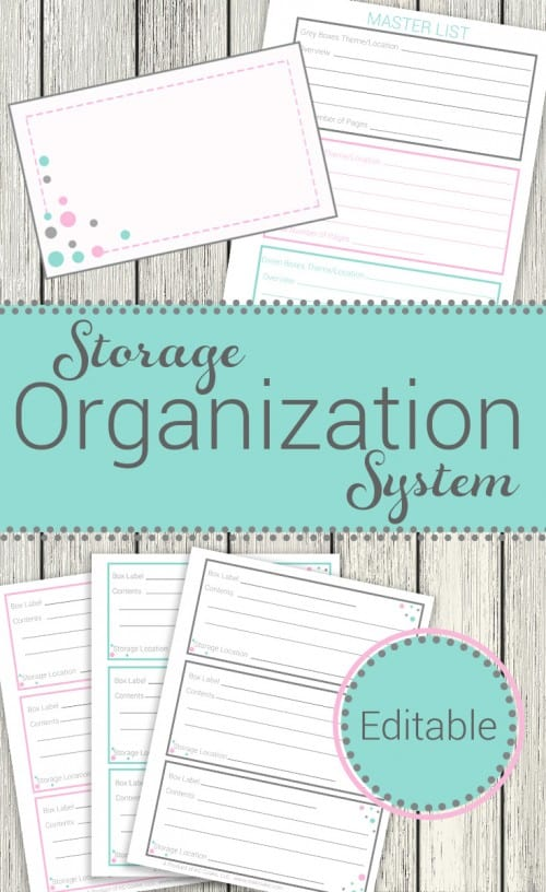 Storage organization system ~ Such a great printable system to get organized and know where things are. It will be perfect for organizing my attic, shed, or garage storage bins.