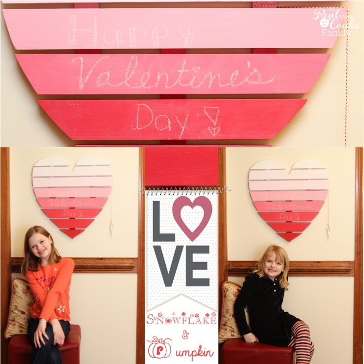 DIY Valentine craft to make a heart shaped chalkboard using chalkboard paint. #ChalkboardPaint #ValentinesDay