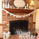 Mantel Decor ~ My Winter Mantel