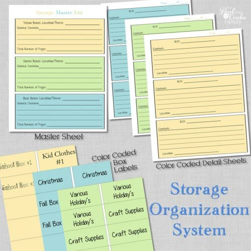 Storage organization system ~ Perfect for organizing your attic, shed, or garage storage bins. #Organization #Garage #Shed #Attic