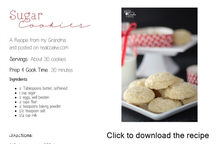 Delicious and easy to make drop sugar cookies from an old fashioned recipe. #Cookies #Recipe
