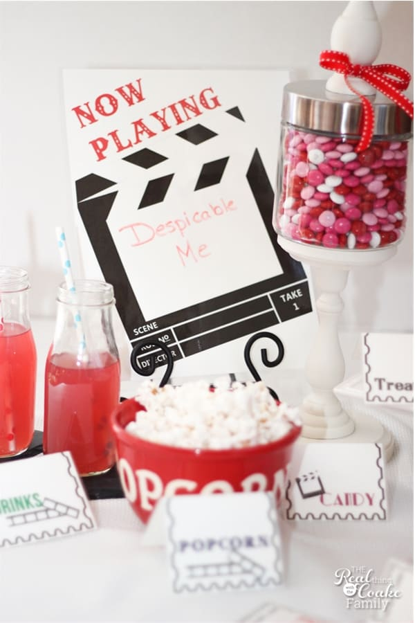 now playing printable sign for family movie night