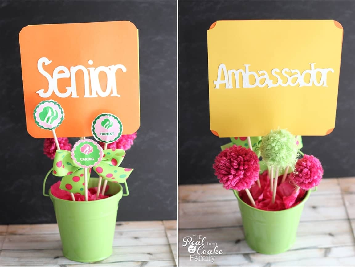 Cute ideas to make a Girl Scouts bronze award or bridging ceremony extra special and extra adorable. #GirlScouts #AwardCeremony #Crafts #RealCoake