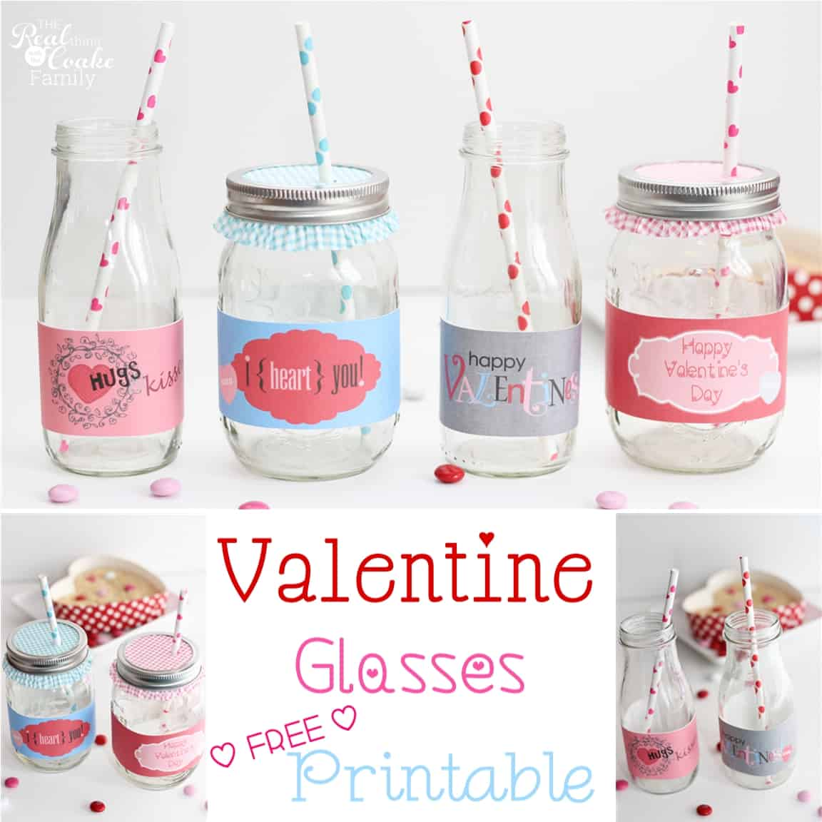 Valentine S Day Ideas Cute Drinking Glass Wrappers The