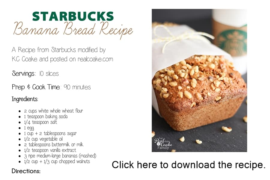 Starbucks banana bread recipe 187 the real thing with the coake family