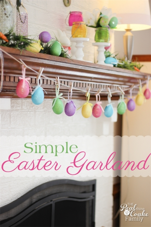 Simple Easter Garland from The Real Thing with the Coake Family