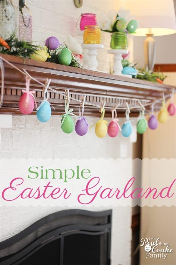easter crafts make a egg garland in 5 minutes. Black Bedroom Furniture Sets. Home Design Ideas
