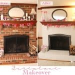 Exceptionally Easy and Dramatic Fireplace Makeover!!
