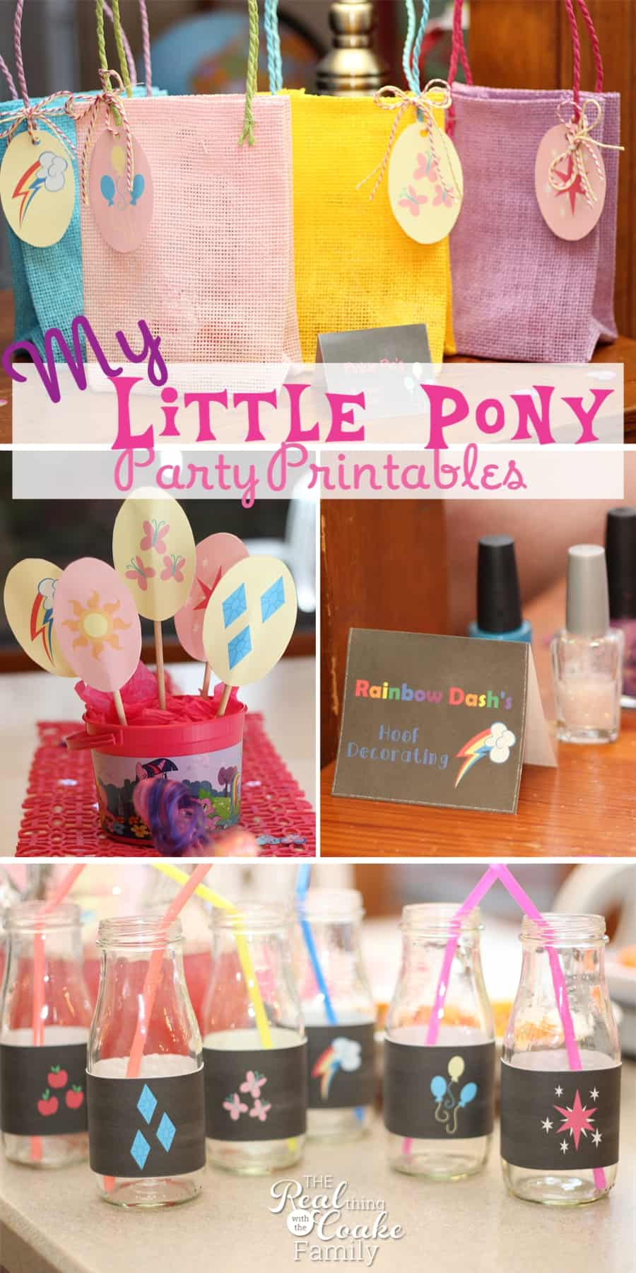 My Little Pony Birthday Party adorable printables. Perfect printable pack to make a the party cute and quick. #MLP #Birthday #Printable #MyLittlePony #Party