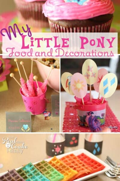 My Little Pony Birthday party ~ Great ideas for food and decorating for a My Little Pony Party!